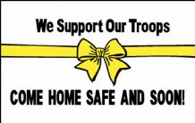 WE SUPPORT OUR TROOPS (WHITE) - 5 X 3 FLAG